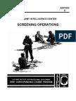 Army Interrogation Screening Operations
