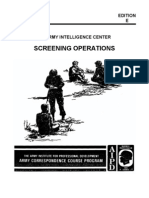 Army Interrogation Screening Operations