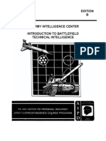 Army Intro to Battlefield Tech Intelligence