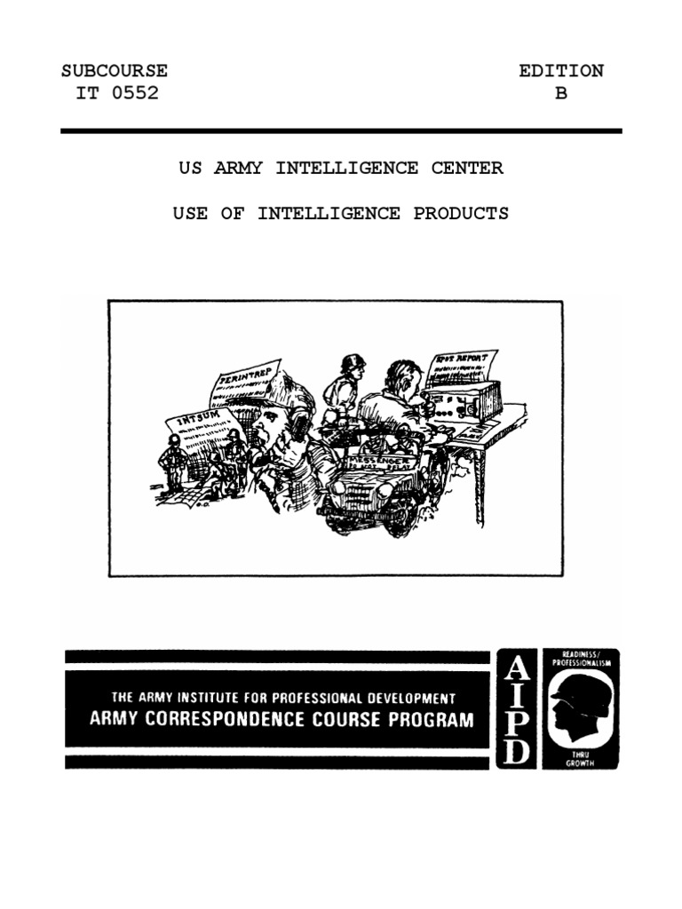 Army Use of Intelligence Products | Military Intelligence | Staff (Military)