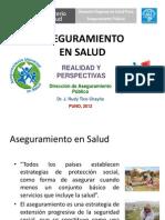 GESTIÓN DEL ASEGURAMIENTO EN SALUD - PUNO 2012