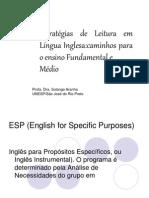 Estrategias de Leitura Em Lingua Inglesa
