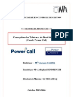 Conception Des Tableaux de Bord de Gestion. Cas de Power Call