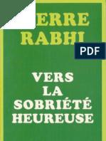 Vers La Sobriete Heureuse