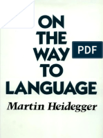 Heidegger - GA 12 - On the Way to Language