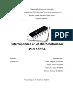 Interrupciones en El Microcontrolador