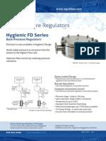 Equilibar Hygienic FD Series Back Pressure Regulator