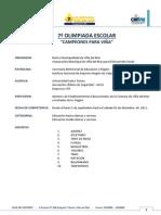 BASES - 7ª OLIMPIADA ESCOLAR 2011