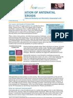 Antenatal Corticosteroids Brief