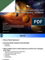 International Cooperation and Public Diplomacy at NASA