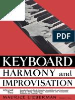 Maurice Lieberman - Keyboard Harmony and Improvisation - Volume II
