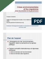 Gemenne F._Crises environnementales et flux migratoires, mécanisme de protection et gouvernance