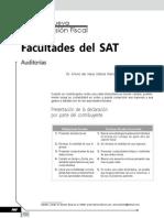 Facultades del SAT. Auditorías