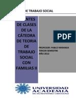 Teoria de Trabajo Social Con Familias II 2012