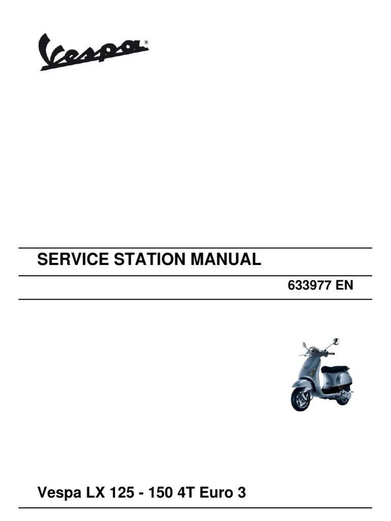 Vespa LX 125 - 150 4T Euro3 (EN) | Carburetor | Internal