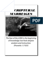 Unscriptural Marriages