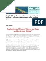 Cuba Focus-Chavez' Death