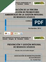1.- Programas Municipales de Prevención y Gestión Integral RS