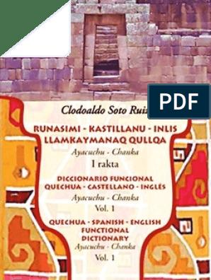 Diccionario Quechua-Castellano-Inglés | Adjective | English Language