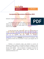 Comunicado Inscripciones OM 2013