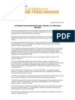 Victorian Food Producers Lead the Way at Fine Food Awards