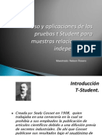 Seminario Bioestadistica t Student DR. NELSON ROSERO