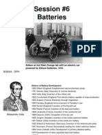 Batteries Overview History Chemistry Types Session-6 2007