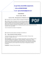 MS-05-Management of Machines and Materials