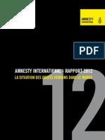 31-07-12 Amnesty International 2012 - Rapport Des Drois Humains Dans Le Monde