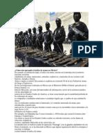 Cómo esta operando el trafico de armas en México