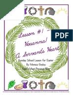 Easter Lesson 1 - Hosanna and a Servants Heart