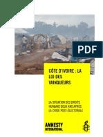 26-02-13 Côte d'Ivoire - la loi des vainqueurs