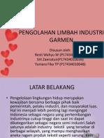 Pengolahan Limbah Industri Garmen