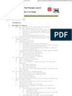 Table of Contents in Full - Outline of the Principle, Level 4