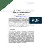 Development Management Setting the Economy's Take-Off