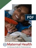 Maternal Health - An Advocacy Guide for Parliamentarians