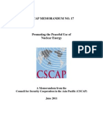 CSCAP Memo No. 17 - Promoting the Peaceful Use of Nuclear Energy