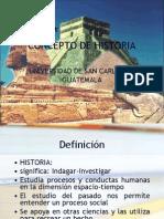 Clase 1 16-01-2010 Concepto de Historia