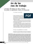 Duración de las relaciones de trabajo. Contratos de trabajo por obra y tiempo, la prueba, la capacitación inicial y la temporada