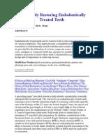 Predictably Restoring Endodontically Treated Teeth