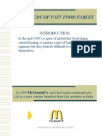 Case Study of Fast Food Fables