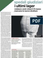 Ospedali giudiziari, gli ultimi lager - L'Unità 05.03.2013