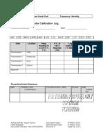 Assessment 3 Probe Calibration Log