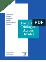 Fostering Dialogue Across Divides