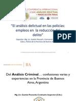 """""""El análisis delictual en las policías"""