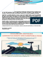 SALIBAD MINERS ASSOCIATION INCORPORATED OIL AND GAS EXPLORATION
