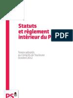 Statuts et règlementintérieur du PS