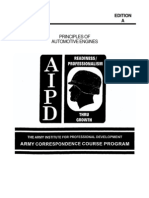 Army Mechanic Principles of Auto Engines