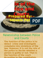 Role of the Police and Courts