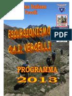 Programma escursionismo 2013 - CAI Vercelli